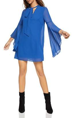 BCBGeneration Tie-Neck Bell-Sleeve Dress
