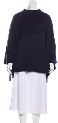 Chloé Medium-Weight Cashmere Poncho Navy Chloé Medium-Weight Cashmere Poncho