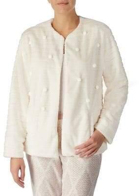 Kensie Pom-Pom Faux Fur Jacket