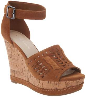 Marc Fisher Suede Ankle Strap Wedges - Hillana