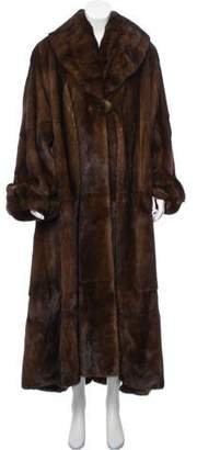 Valentino Mink Fur Long Coat