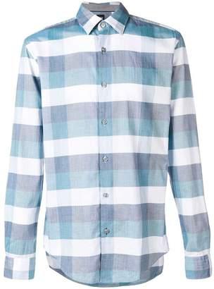 HUGO BOSS check long-sleeve shirt