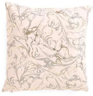 20x20 Marble Print Pillow