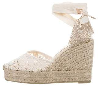 Castaner Carina Crochet Espadrille Wedges w/ Tags