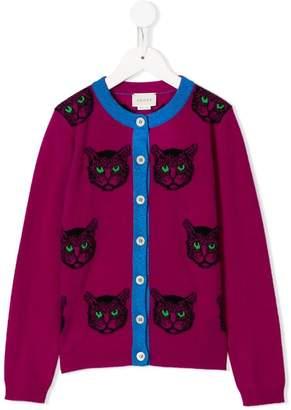 Gucci Kids tiger intarsia cardigan