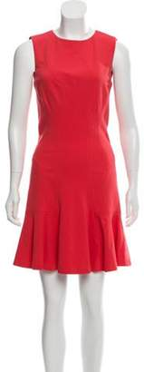 Diane von Furstenberg Flare Mini Dress Coral Flare Mini Dress