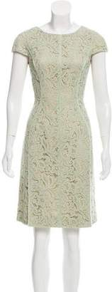 J. Mendel Lace Sheath Dress