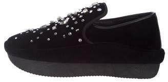 Giuseppe Zanotti Velvet Embellished Loafers