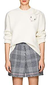 J.W.Anderson Women's Bunny-Brooch Wool-Blend Sweater-Off White