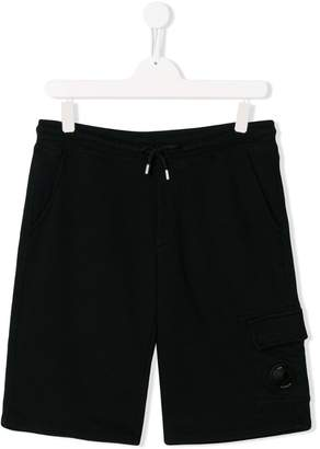 C.P. Company Kids TEEN button detail track shorts