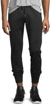 Moncler Zip-Pockets Drawstring Sweatpants, Black $460 thestylecure.com