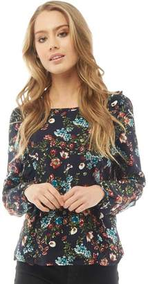 Only Womens Nova Patterned Top Night Sky/Flower Boom