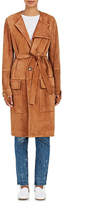 Helmut Lang Women's Suede Trench Coat $2,255 thestylecure.com