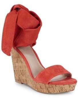 8d5a5651252 Suede Tie Wedge Sandal - ShopStyle