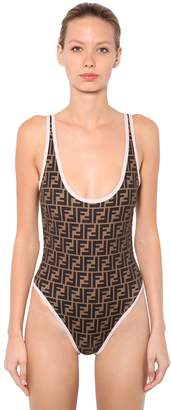 Fendi Reversible Logo Lycra Swimsuit