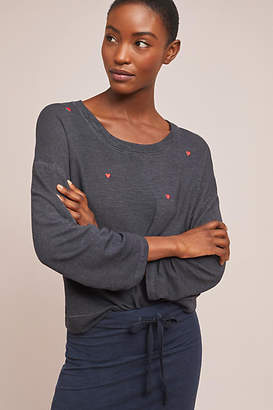 Sundry Patched Heart Pullover