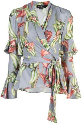 PatBO wrap front blouse