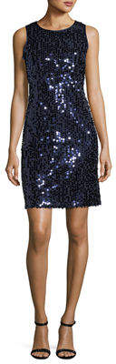 Taylor Sleeveless Sequin Shift Dress