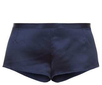 La Perla Silk Midnight Blue Silk Sleep Shorts