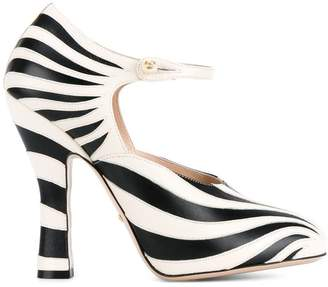 Gucci striped pumps