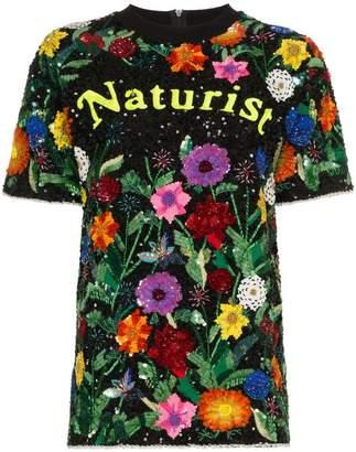Ashish Naturist floral sequin embellished top