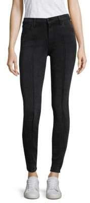 J Brand Mid-Rise Pintuck Skinny Pants