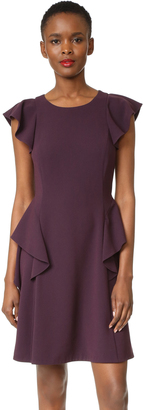 Rebecca Taylor Short Sleeve Ruffle Dress $375 thestylecure.com