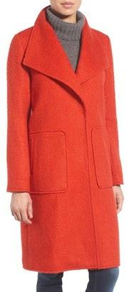 Women's Bernardo Textured Long Coat $198 thestylecure.com