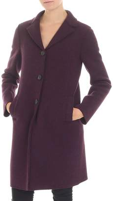 Harris Wharf London Purple Virgin Wool Coat