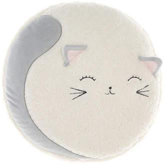 Hiccups Cream NOvelty Sleepy Kitty Cushion