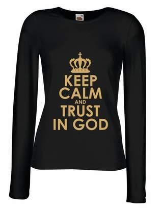 lepni.me T shirt women Trust in God! Jesus Christ Loves You Shirt - Easter - Resurrection - Nativity, Christian Clothing