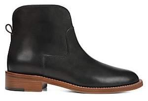 7296c5bc20a Via Spiga Black Lined Leather Women s Boots - ShopStyle