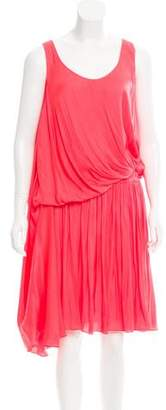 Lanvin Draped Sleeveless Dress
