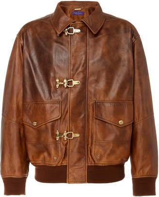 Ralph Lauren Bolden Leather Bomber Jacket
