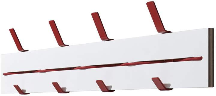 emform - Expander Wandgarderobe, weiß / rot