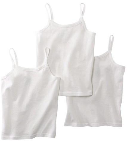 Hanes Toddler Girls 3 Pack Cami - White