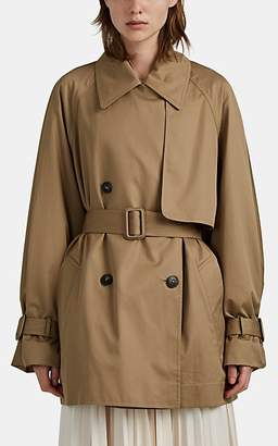 The Row Women's Keera Cotton Oversized Crop Trench Coat - Neutral