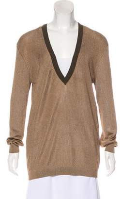 Dries Van Noten Metallic Knit Sweater
