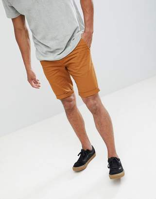 New Look chino shorts in tan