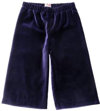 Il Gufo Stretch Velvet Cropped Pants