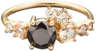 Mociun Luna Cluster Ring - Yellow Gold