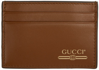 Gucci Tan Money Clip Card Holder