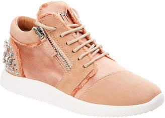 Giuseppe Zanotti Embellished Suede & Satin Sneaker