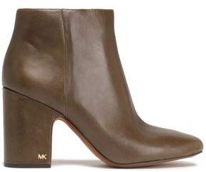MICHAEL Michael Kors Glossed-leather Ankle Boots