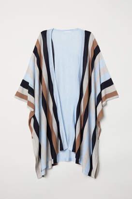 H&M Fine-knit Cardigan - Blue