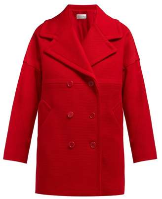 RED Valentino Double Breasted Cotton Blend Coat - Womens - Red