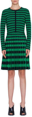 Akris Punto Memphis Striped Bolero Knit Cardigan