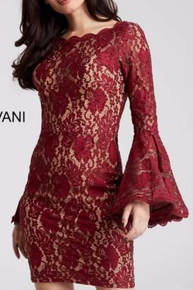 Jovani Lace Bell Sleeve Dress