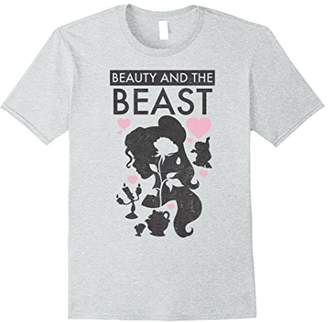 Disney Beauty & The Beast Belle Silhouette Graphic T-Shirt