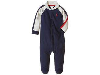 Ralph Lauren Rugby Jersey Shawl Collar Coverall (Infant)